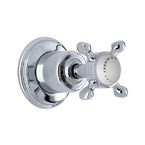 "3269 Perrin & Rowe Single 1/2"" Wall Valve With Crosshead Handle"